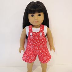 American Girl Doll Clothes - Shortalls Romper and Tank Top