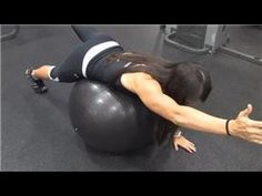 Ball exercises for spinal stenosis (lower back pain)