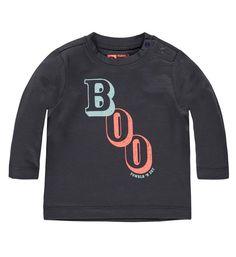Tumble 'N Dry t-shirt Neifarn met letterprint op de voorzijde. Deze longsleeve heeft handige drukknopen op de linker schouder. 95% katoen, 5% elasthan