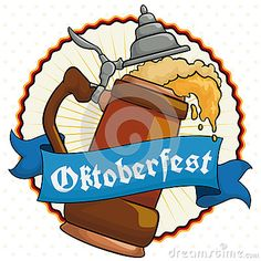 Poster with delicious frothy beer served in a traditional stein with a greeting…