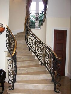 Monumental stairs by Wrought Iron, Inc. on HomePortfolio