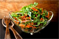 Arugula and Carrot Salad With Walnuts and Cheese - Recipes for Health - NYTimes.com