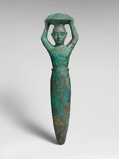 Foundation figure of king Shulgi of Ur, carrying a basket, Ur III, ca. 2094-2047 BCE, Mesopotamia, Neo-Sumerian, copper.