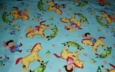 BTHY Michael Miller RARE Out Of Print Pony Ride Kids Fabric Vhtf Amazing