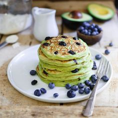Blueberry Avocado Pancakes - fun to make and eat for breafkast!