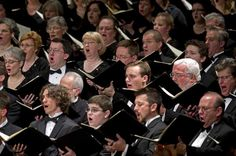 The Cincinnati May Festival features great works for orchestra and chorus. Robert Shaw was a frequent conductor.