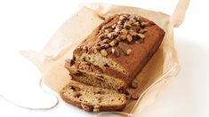 Reese's™ Peanut Butter Cup Banana Bread recipe and reviews - Reese's™ peanut butter cups are the crowning touch of this quick bread! No one will be able to resist a sweet slice.