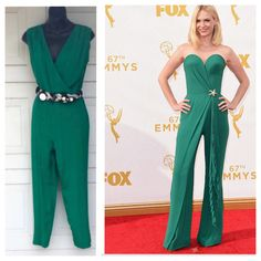 Jumpsuits are back!  January Jones looked amazing on the Emmys red carpet last night in her emerald green jumpsuit. Check out our selection of jumpsuits for your next night out on the town!