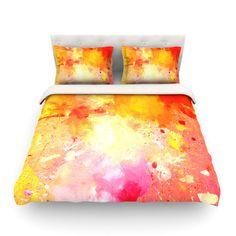 East Urban Home Splash by CarolLynn Tice Featherweight Duvet Cover Size: Twin