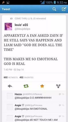 The joy & sadness this brings me  OMG HE STILL SAYS VAS HAPPENIN!!!! <<<< IT'S ALMOST LIKE THEY DIDNT CHANGE THATTTTT MUCH <3333 MEMORIEEEEEES