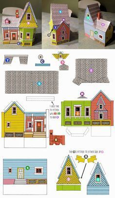 Up House Printable Template Up Pixar, Up House Pixar, Disney Up House, Up Movie House, Disney Movie Up, Paper Doll House, Paper Houses, Up Carl Y Ellie, House Template
