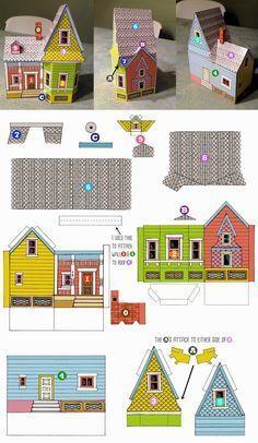 Peach Bum: UP HOUSE Printable Template!