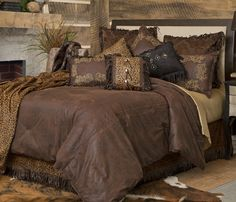 Western Bedding Set Bed Comforter Twin Queen King Rustic Cabin Lodge Brown New in Home & Garden, Bedding, Comforters & Sets Rustic Bedding Sets, Western Bedding Sets, Western Bedrooms, Couches, Brown Bedroom Colors, Leather Bed, Le Far West, Bed Spreads, Luxury Bedding