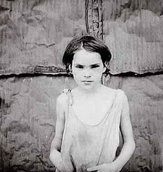 """Dorothea Lange - child prostitute. """"Shacktown"""" near Oklahoma City. The picture was taken in 1936"""