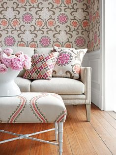 Classically inspired designs and worldly motifs are enlivened with a fresh and adventurous color palette.