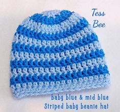 Baby Boy Hat, Striped Baby Beanie, footy baby Hat, Baby Hat With Stripes, Hospital Hat, Newborn Baby Gift, Baby Shower Gift, UK Seller Baby Boy Beanies, Baby Girl Hats, Newborn Boy Clothes, Newborn Baby Gifts, Cute Baby Gifts, Crochet Baby Hats, Handmade Baby, Baby Shower Gifts, Birth Gift
