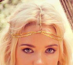 CHAIN HEADPIECE head chain headdress chain headpiece. by LovMely, $45.00
