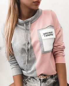 Trend Fashion, Fashion 2020, Girl Fashion, Fashion Outfits, Style Fashion, Cute Sweater Outfits, Embroidery Fashion, Casual Tops For Women, Professional Outfits