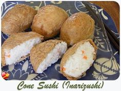 Delicious Cone Sushi or Inarizushi, a local favorite in Hawaii. Get more local style recipes here.