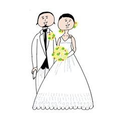 いいね!330件、コメント7件 ― Konomi Asahiさん(@konomiasahi)のInstagramアカウント: 「Thank you for your order! これからも末永くお幸せに…♡ #結婚おめでとうございます#illustration#年賀状#happy#123」