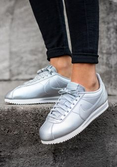 info for 0a877 232a3 Nike Cortez Silver Sneakers