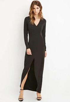 Contemporary Slit-Front Maxi Dress | Forever 21 | #thelatest