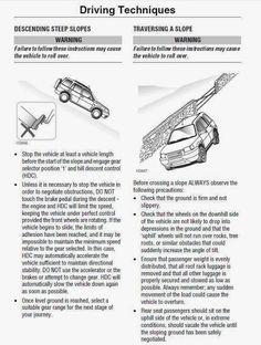 My 4x4 Freelander: Driving Techniques - Part II
