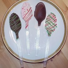 Chocolate Spoons - perfect in hot chocolate or coffee!