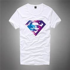 Moda-Cool-3D-Famosa-Marca-Negro-Camisa-camiseta-superman