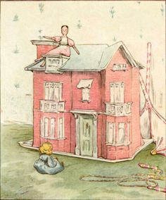 """'The Tale of Two Bad Mice', 1904 -- Beatrix Potter. """"Once upon a time there was a very beautiful doll's house... It belonged to two Dolls called Lucinda and Jane."""""""