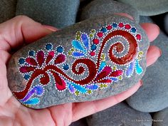 everlasting / painted rocks/ painted stones / unique gifts / art on stone / rocks / home decor / sea stones / by LoveFromCapeCod on Etsy