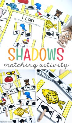 Teachers, there is never a bad time for a good matching activity! This activity will help your student to match letters to other letters, numbers to other numbers and shapes to other shapes. Your students will love this shadow matching activity...just wait and see! #matching #preschool #learning #activitiesforkids #mrsjonescreationstation