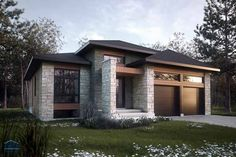 Wonderful Plan Maison Quebec that you must know, You're in good company if you're looking for Plan Maison Quebec Modern Bungalow Exterior, White Exterior Houses, Modern Farmhouse Exterior, Exterior House Colors, Bungalow Haus Design, Duplex House Design, Duplex House Plans, Small House Design, Style At Home