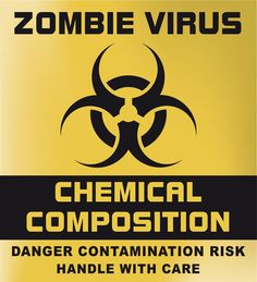 label zombie virus halloween biohazard