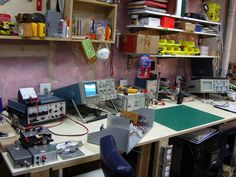 All sizes | 2014 Workbench - update - Bench 2 | Flickr - Photo Sharing! Artist Workspace, Workbench Ideas, Home Workshop, Shop Layout, Workbenches, Electronics Projects, Circuits, Labs, Carrera