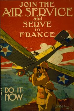 Join the air service and serve in France--Do it now