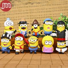 Find More Action & Toy Figures Information about New 10 PCS Minions Movie Character Despicable Me 3 PVC Action Figure Cosplay Minion Kids Toys Birthday Gift Free Track,High Quality toy bank,China toys adult Suppliers, Cheap toy pool from M&J Toys Global Trading Co.,Ltd on Aliexpress.com