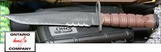 Ontario Knife Co. makes some of the finest combat knives and tactical knives. Their specialty is American Made fixed blade knives including combat bayonets, Ranger Knives, bowie knives, machetes, military knives, survival knives and more.  See All Ontario Knives here: http://www.osograndeknives.com/catalog/m-ontario-knives-208-1.html