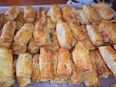 Slané závitky z lístkového cesta (fotorecept) Pretzel Bites, Appetizers, Potatoes, Bread, Chicken, Vegetables, Food, Hampers, Essen