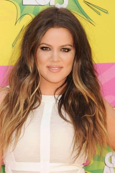 Long hair with layers and brown ombre