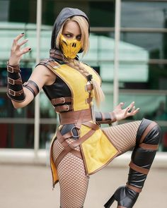 Cosplay: Scorpion (Mortal Kombat) by rociocosplayer Cosplay Lindo, Top Cosplay, Cute Cosplay, Amazing Cosplay, Cosplay Outfits, Best Cosplay, Anime Cosplay, Cosplay Girls, Cosplay Costumes