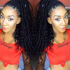 STYLIST FEATURE| Love these #goddesslocs by #KingstonJamaica stylist @xtensionsja using synthetic hair❤️ Love the natural look of this style #voiceofhair ✂️========================== Go to VoiceOfHair.com ========================= Find hairstyles and hair tips! =========================