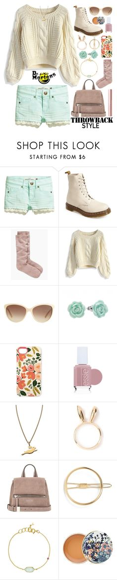"""""""Pastel Docs Outfit"""" by orange-seltzer on Polyvore featuring H&M, Dr. Martens, Kate Spade, Chicwish, Gucci, LC Lauren Conrad, Rifle Paper Co, Essie, Twig and Natasha Zinko"""