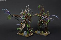Wood Elves Treemen painted by Rafal Maj (BloodyBeast.com)