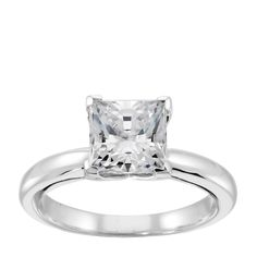 14K White Gold 0.76 ct Round Brilliant Cut Lab Created Engagement Ring $679