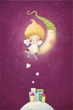 Ilustración de la Navidad por Jelena Brezovec, a través de Behance
