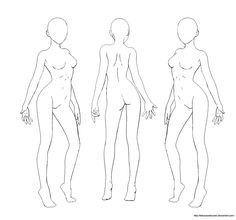 Female Stock Lineart by kitsunezetsumei – Frauen Haar Modelle Drawing Body Poses, Human Drawing, Drawing Base, Body Sketches, Drawing Sketches, Art Drawings, Drawing Tips, Female Character Design, Character Art