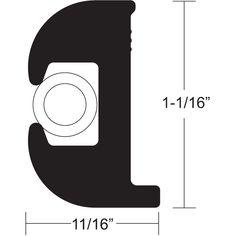 "TACO Flex Vinyl Rub Rail Kit - Black w/White Insert - 50' - 1-1/16"" x 11/16"" - https://www.boatpartsforless.com/shop/taco-flex-vinyl-rub-rail-kit-black-wwhite-insert-50-1-116-x-1116/"