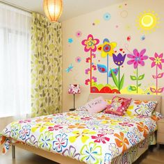 Yesurprise New PVC Creative Bird Colourful Flowers Tree Butterfly Sun living room backdrop Wall Stickers baby kid's room decal Paper House Sofa Room Yesurprise http://www.amazon.com/dp/B00JQ2ZC7E/ref=cm_sw_r_pi_dp_GN5tvb0MRJG0G