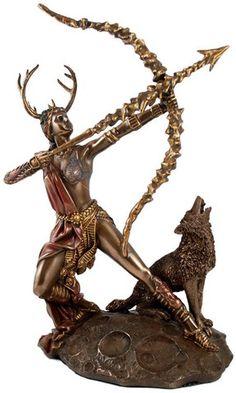 #pagan #wicca #witchcraft #celtic #druid #tarot Artemis Statue $61.95